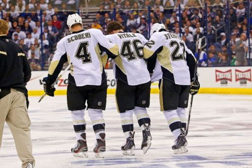 Rob Scuderi, Joe Vitale, Lee Stempniak